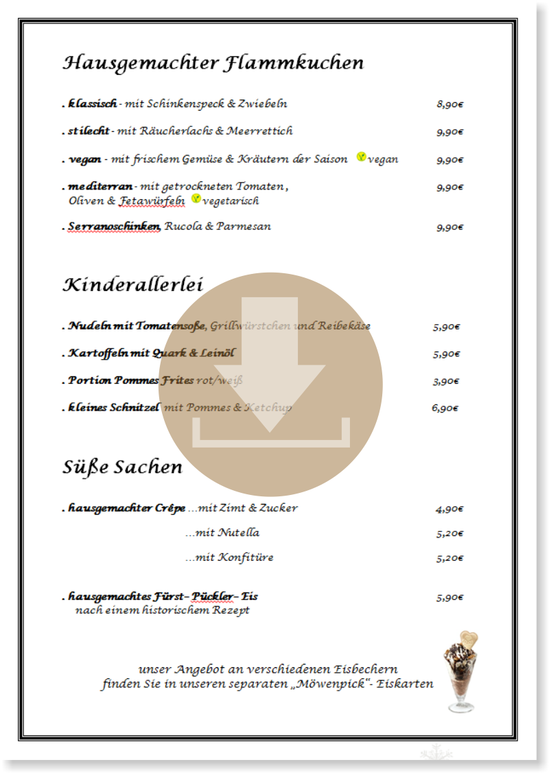 speisekarte download